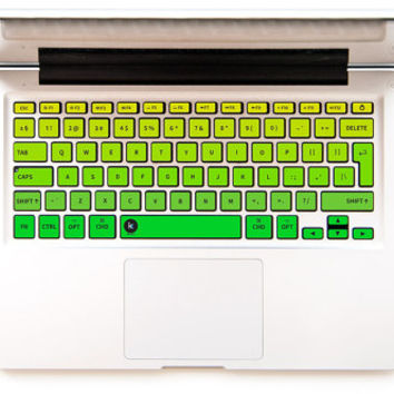Ombre Jungle - Decal Keyboard Sticker for Macbook Mac Lenovo Asus Sony Acer Dell HP Samsung Toshiba Gradient Forest Yellow Green