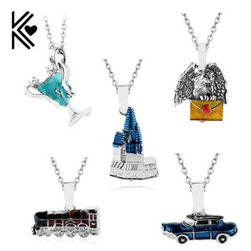 Castle/Owl/Tri-Wizard Cup/Flying Car/Train Necklace  (Harry Potter)