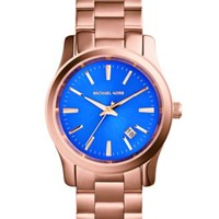 Michael Kors Women's Runway Rose Gold-Tone Stainless Steel Bracelet Watch 38mm MK5913 | macys.com