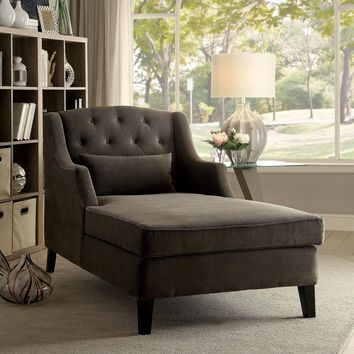 Weigand Traditional Style Warm Gray Chaise
