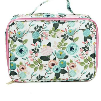 Canvas Lunch Bag | Ivory Floral
