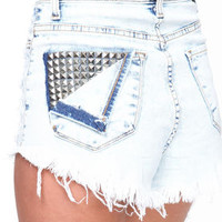 Studded Cut Off Shorts - LoveCulture