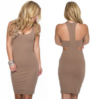 Over You Bodycon Dress In Mocha