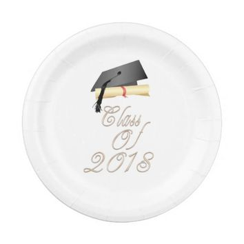 Graduating Class Of 2018 Paper Plate
