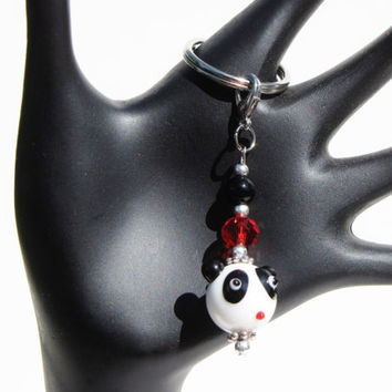 Cute Panda Keychain Keyfob Under 10 New 1st Time Driver Backpack Purse Planner Zipper Pull Charm Gift For Her Mom loUiSiAnaCre8ions