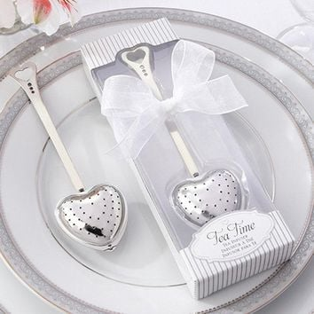 10pcs/lot Wedding Souvenir Stainless Steel Tea Spoon Creative Small Gift Exquisite Box For Wedding Decorations Accessories