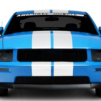 American Muscle Graphics Mustang White Lemans Stripes - 8 in. 26054G05 (05-14 All) - Free Shipping