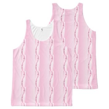 Pink Flowers n Waves All-Over Print Tank Top