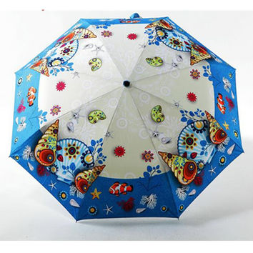 Amazing Ocean World Sun-Rain 3 Fold Umbrella CP153342