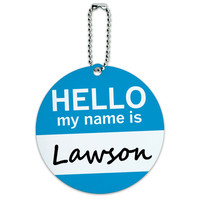 Lawson Hello My Name Is Round ID Card Luggage Tag