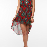Urban Outfitters - Angie Geo Print Chiffon High/Low Dress