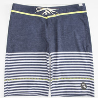 Quiksilver East Side Stripe Mens Boardshorts Navy  In Sizes
