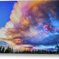 High Elevation Forest Sunset Sky Timed Stack Metal Print
