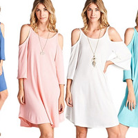 Women's Off-The-Shoulder Tank Dress