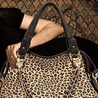Fashion European Style Leopard Print Bowknot Handbag from styleonline