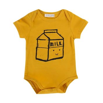 Gold Milk Carton Bodysuit