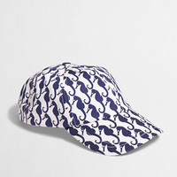Factory girls' sea horse baseball cap - Hats & Scarves - FactoryGirls's Accessories & Shoes - J.Crew Factory