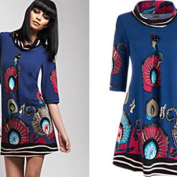 Retro To Go: Print Tunic Dress by Culture