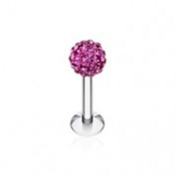 Multi-Sprinkle Dot Multi Gem Ball Steel Labret