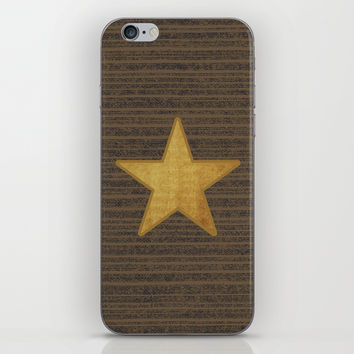 Gold Star iPhone & iPod Skin by Julius Marc