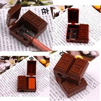 2 In 1 Mini Cute Chocolate Pencil Sharpener Penknife Sharper Rubber Eraser HOTHU