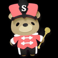 Teddy Bear Drum Major Card, Kids Cards, Cards for Children, Teddy Bear, Marching Band
