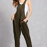 Satin Zippered Jumpsuit