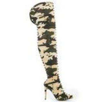CR Thigh High Camo Boots