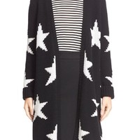 Max Mara 'Alba' Star Knit Cotton Blend Cardigan | Nordstrom