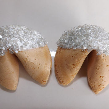 50 Wedding Fortune Cookies Silver Favors Rehearsal Dinners Bridal Party