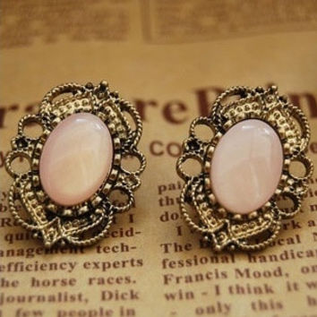 Retro fashion and personality Lovely delicate Candy color vintage stud earrings = 1958508356