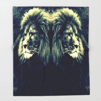 LIOn Throw Blanket by 2sweet4words Designs