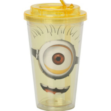 Despicable Me Minion Flip Straw Acrylic Travel Cup