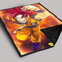Dragon Ball Z goku Throw Blanket