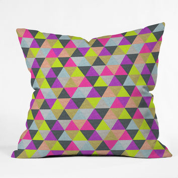Bianca Green Ocean Of Pyramid Throw Pillow