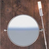 WS Bath Collections WS1-SS-LIGHT-3X-8.7 Mirror Pure Stainless Lighted Wall Magnifying Mirror