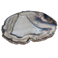 Brazilian Smoke Agate Plate | Rain Collection