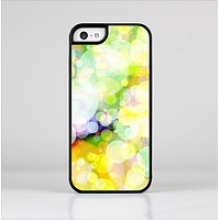 The Glistening Colorful Unfocused Circle Space Skin-Sert Case for the Apple iPhone 5c