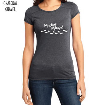 Harry Potter Inspired Clothing - Mischief Managed Crew-Neck Tee - Ladies