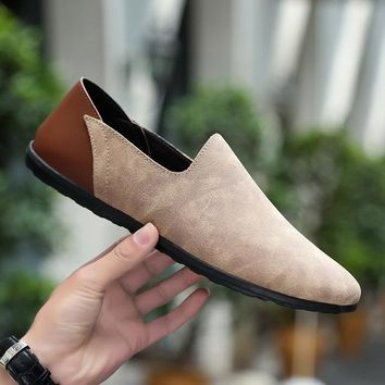 Comfortable Soft Genuine Leather Suede Loafer Shoes