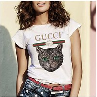 Gucci Hot letters print T-shirt top GU