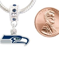 Seattle Seahawks Charm with Connector Will Fit Pandora, Troll, Biagi and More. Can Also Be Worn As a Pendant - Sales Cache