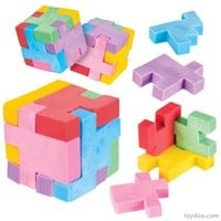 Puzzle Cube Eraser - Toysmith - Pack of 24 ea