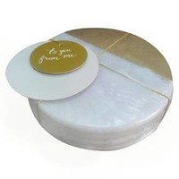 Threshold S/4 Marble Coasters w/ Gold Detail