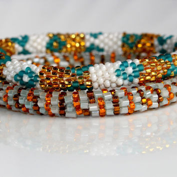 Crochet Bracelet Bangles, Nepal Roll On Bracelets, Seed Beaded Bracelets, Ethnic Bangles, Beadwork Bracelets, Global Summer Jewelry