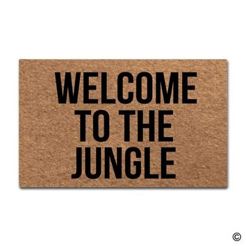 Autumn Fall welcome door mat doormat  Entrance Floor Mat Welcome To The Jungle Designed Funny Indoor Outdoor  AT_76_7