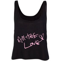 """Harry Styles """"All The Love Autograph"""" Cropped Tank"""