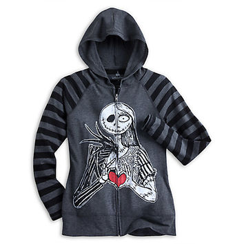 Jack Skellington and Sally Long Sleeve Raglan Hoodie for Women | Disney Store