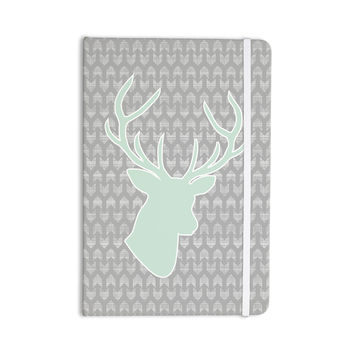 "Pellerina Design ""Winter Deer"" Gray Green Everything Notebook"