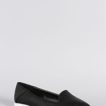 Bamboo Pointy Toe Slip On Loafer Flat